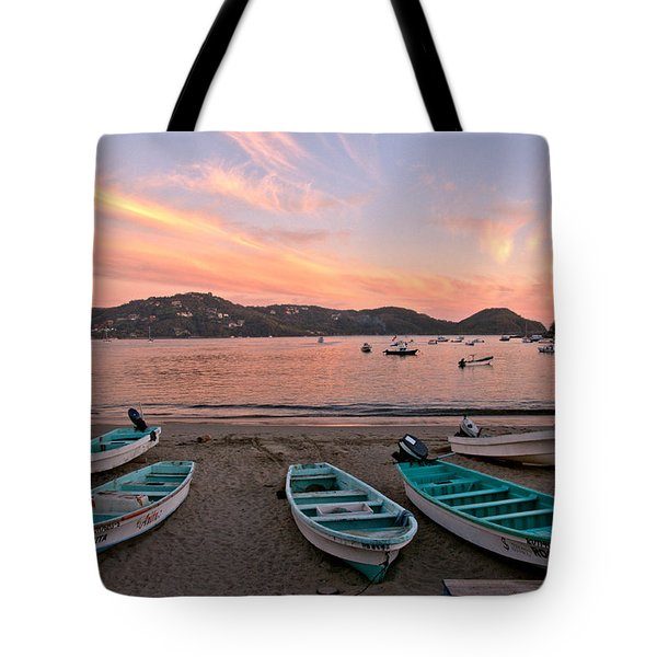 Tote Bag featuring the photograph Life In A Fishing Village by Jim Walls PhotoArtist