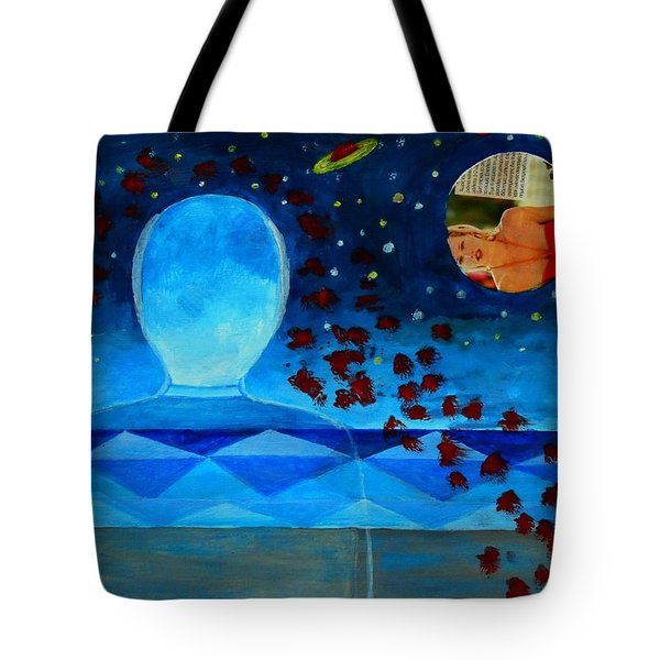 Life In Glass And Fake World Tote Bag