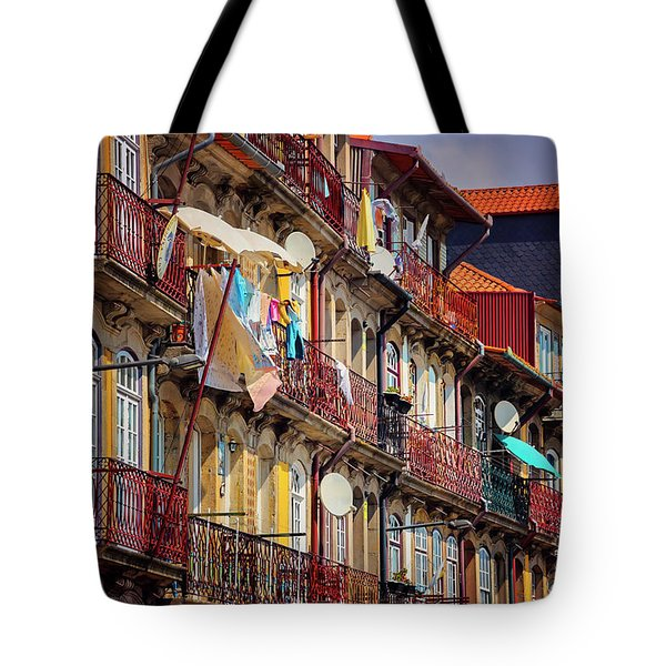 Tote Bag featuring the photograph Life In Ribeira Porto  by Carol Japp