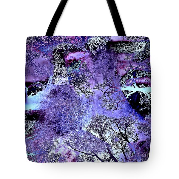 Tote Bag featuring the digital art Life In The Ultra Violet Bush Of Ghosts  by Silva Wischeropp