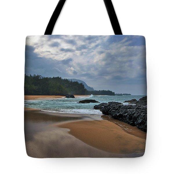Tote Bag featuring the photograph Life Is A Beach And Then You Die? Lumahai Beach, Kauai, Hawaii by Sam Antonio Photography