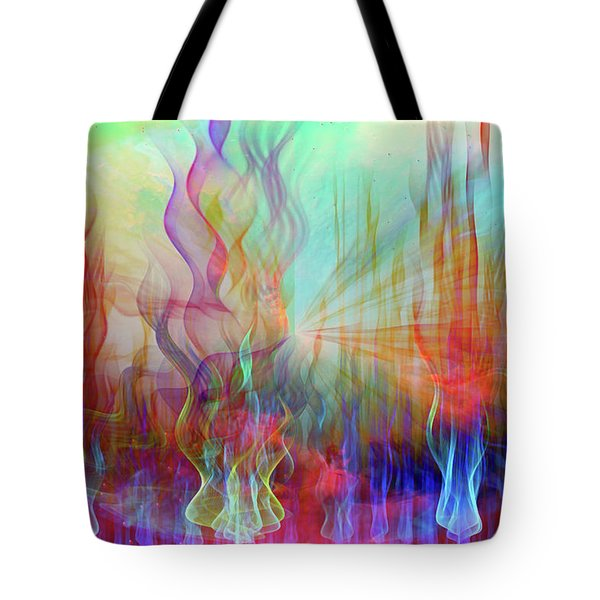 Tote Bag featuring the digital art Life Is A Beautiful Mystery by Linda Sannuti