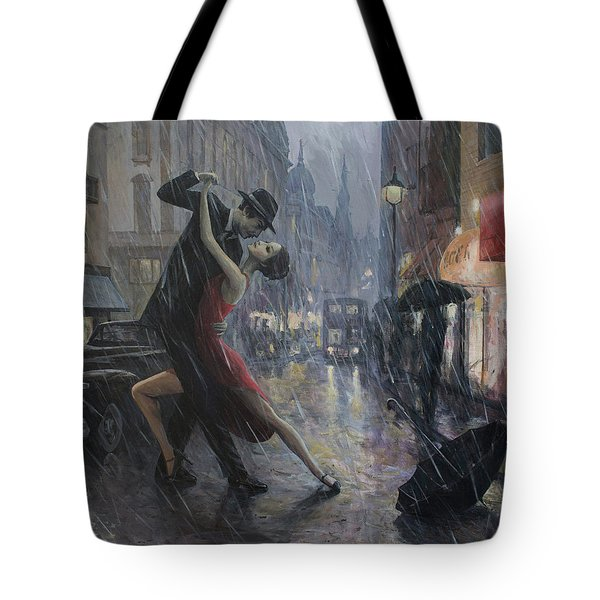 Life Is A Dance In The Rain Tote Bag