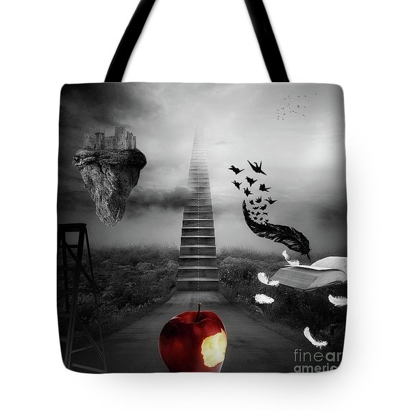 Tote Bag featuring the digital art Life Is A Stage by Mo T