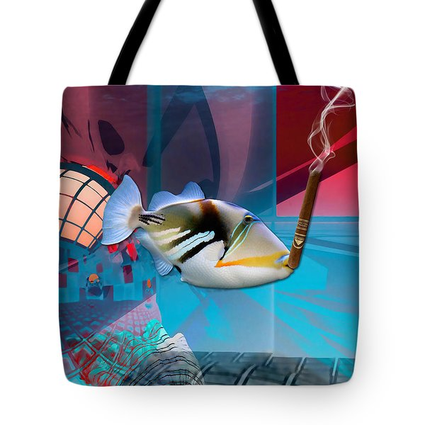 Life Is Good Saltwater Triggerfish Tote Bag by Marvin Blaine