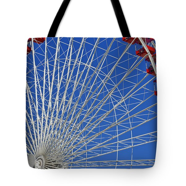 Life Is Like A Ferris Wheel Tote Bag by Christine Till