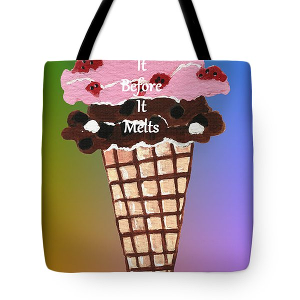 Tote Bag featuring the painting Life Is Like Ice Cream by Kathleen Sartoris