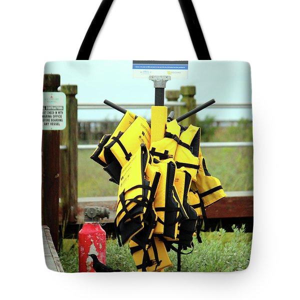 Life Jacket Station Tote Bag