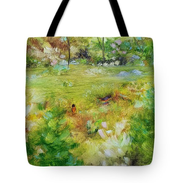 Tote Bag featuring the painting Life Lessons by Judith Rhue