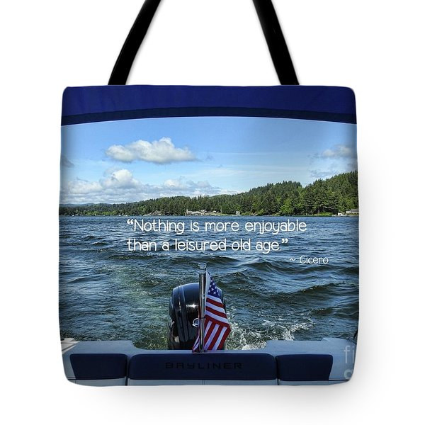Tote Bag featuring the photograph Life Of Leisure by Peggy Hughes