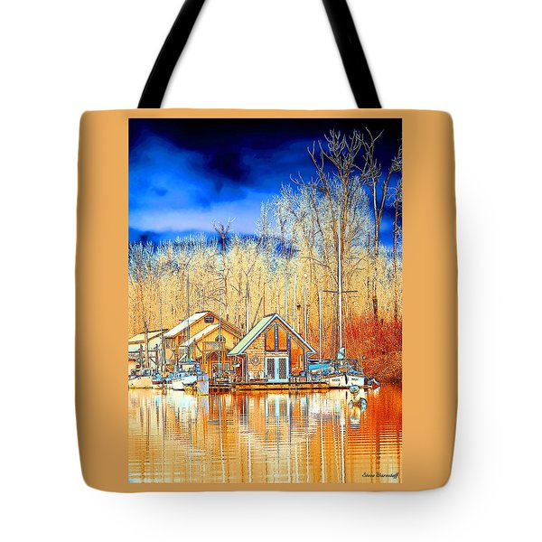 Life On The River Tote Bag by Steve Warnstaff