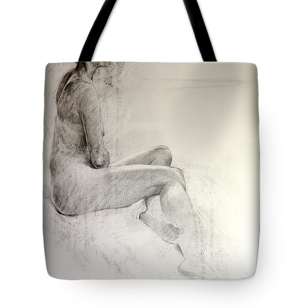 Tote Bag featuring the drawing Life Study by Harry Robertson