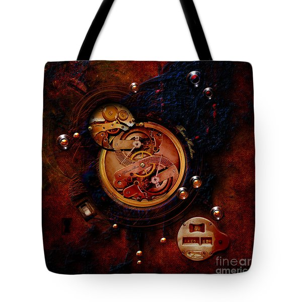 Life Time Machine Tote Bag