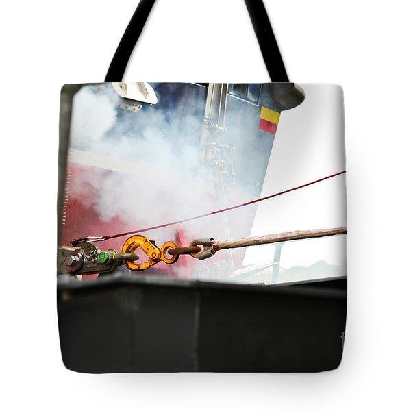 Lifeboat Chocks Away  Tote Bag by Terri Waters