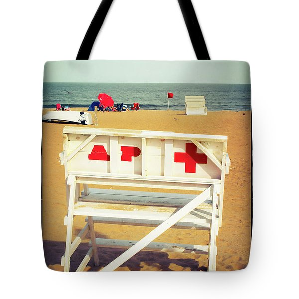 Tote Bag featuring the photograph Lifeguard Chair - Asbury Park by Colleen Kammerer