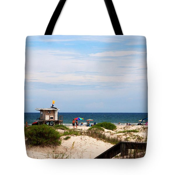 Lifeguard On Duty Tote Bag by Susanne Van Hulst