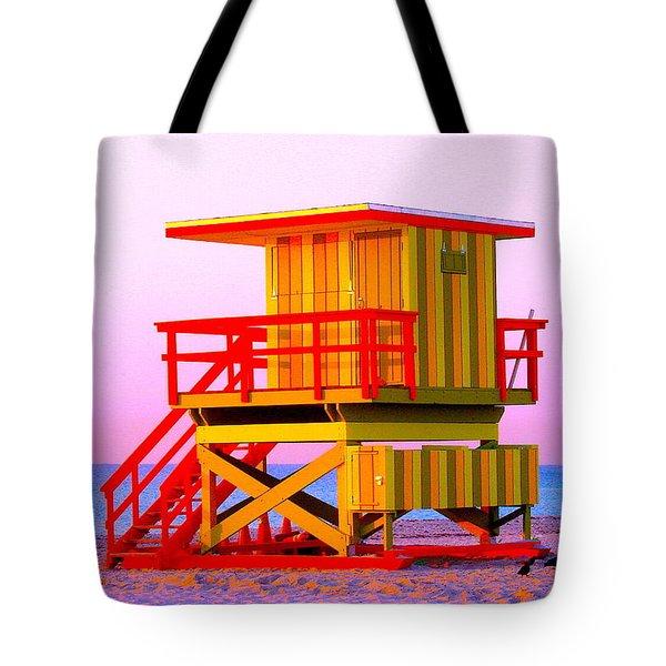 Lifeguard Stand Miami Beach Tote Bag