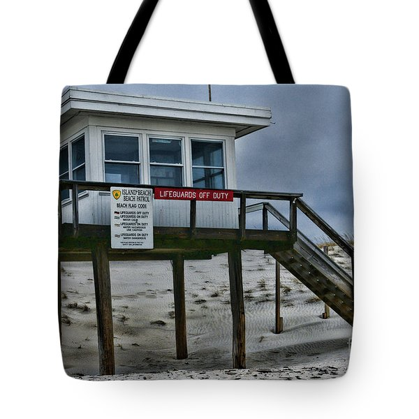 Lifeguard Station 1 Tote Bag by Paul Ward