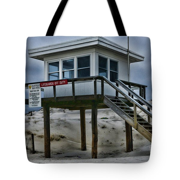 Tote Bag featuring the photograph Lifeguard Station 2  by Paul Ward