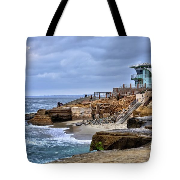 Lifeguard Station At Children's Pool Tote Bag