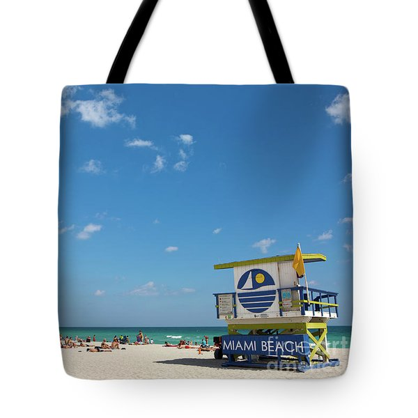 Tote Bag featuring the photograph Lifeguard Station Miami Beach Florida by Steven Frame