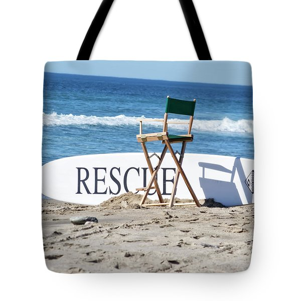 Lifeguard Surfboard Rescue Station  Tote Bag
