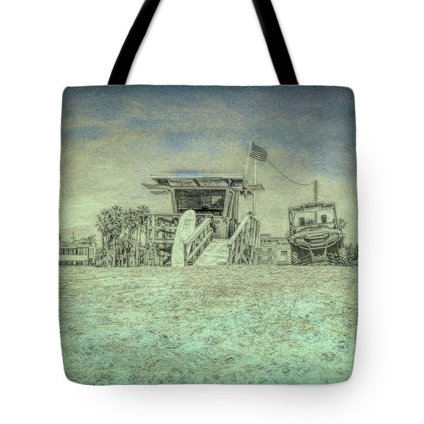Lifeguard Tower 2 Tote Bag