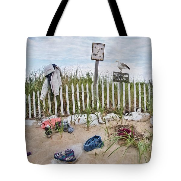 Tote Bag featuring the photograph Life's A Beach by Robin-Lee Vieira