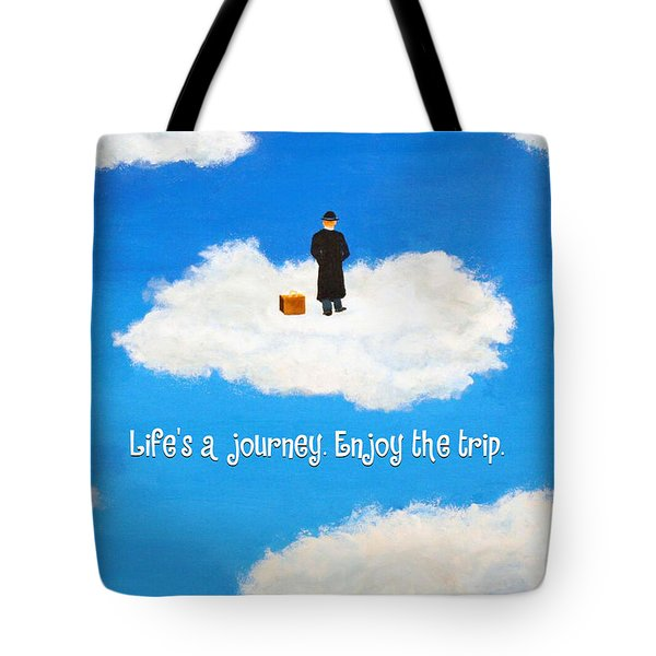 Life's A Journey Greeting Card Tote Bag