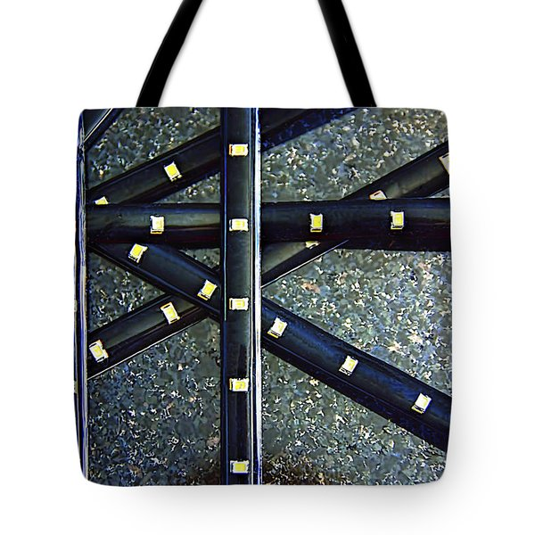 Metal And Stone  Metallic  Photograph Tote Bag by Renee Anderson
