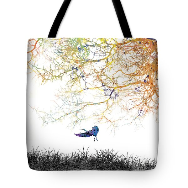 Tote Bag featuring the painting Lift Off by Trilby Cole