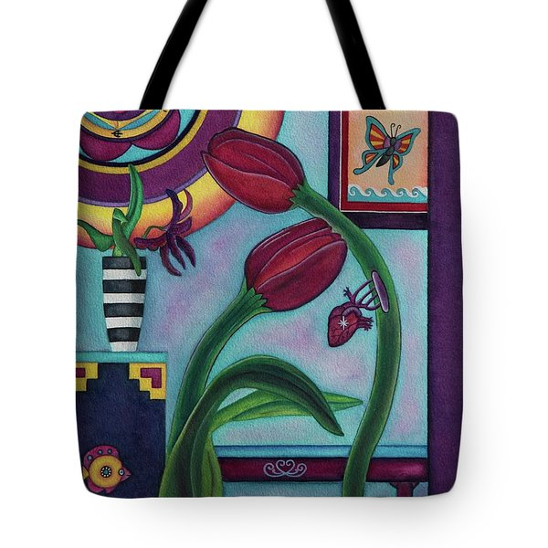 Lifting And Loving Each Other Tote Bag by Lori Miller