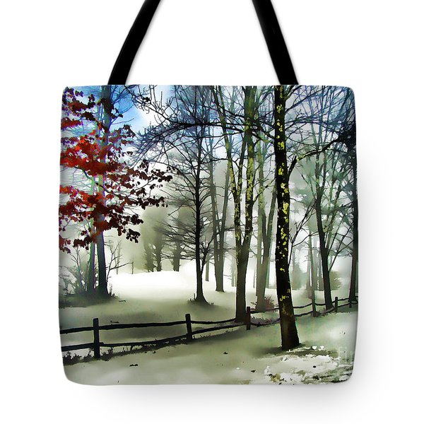 Lifting Fog Tote Bag