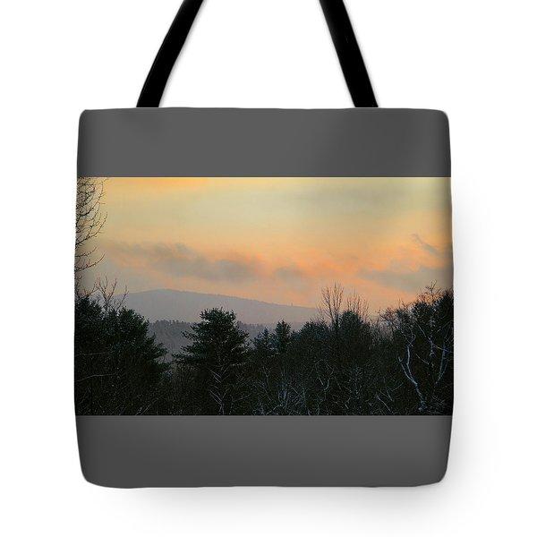 Lifting Storm At Evening Tote Bag