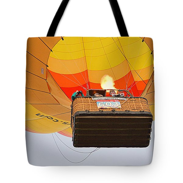 Tote Bag featuring the photograph Liftoff by AJ Schibig