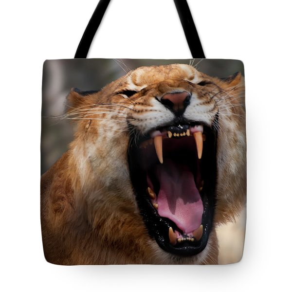 Tote Bag featuring the photograph Liger by Chris Flees