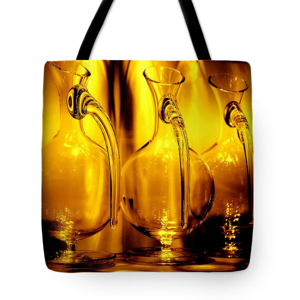 Light And Color Play II Tote Bag by Jenny Rainbow