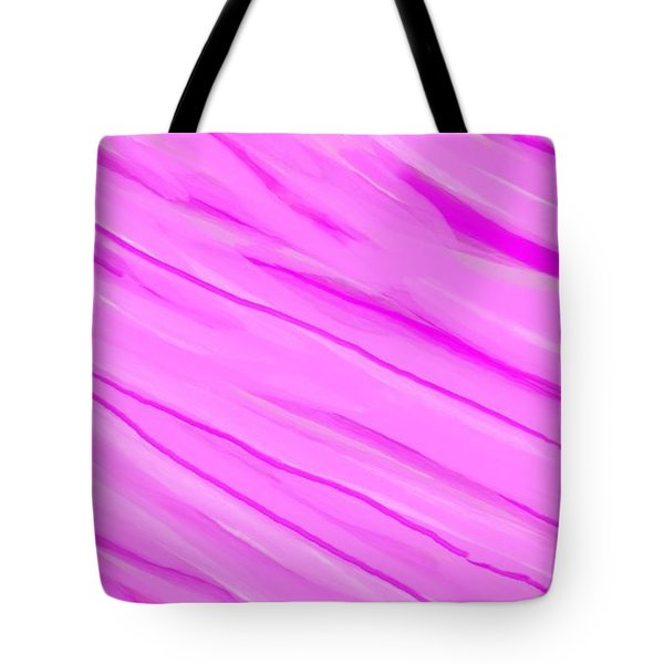 Light And Dark Pink Swirl Tote Bag