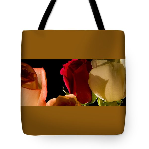 Light And Roses Tote Bag
