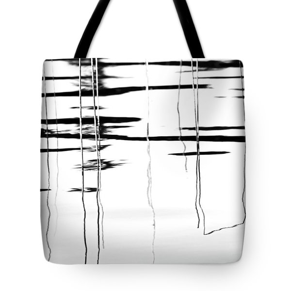 Light And Shadow Reeds Abstract Tote Bag