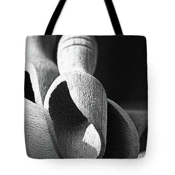 Light And Shadows On Wooden Spoons  Tote Bag