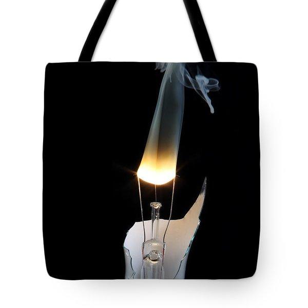 Light And Smoke Tote Bag