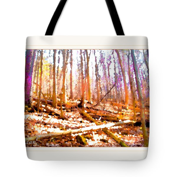 Tote Bag featuring the photograph Light Between The Trees by Felipe Adan Lerma