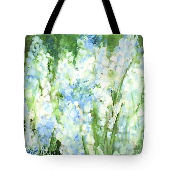 Light Blue Grape Hyacinth. Tote Bag