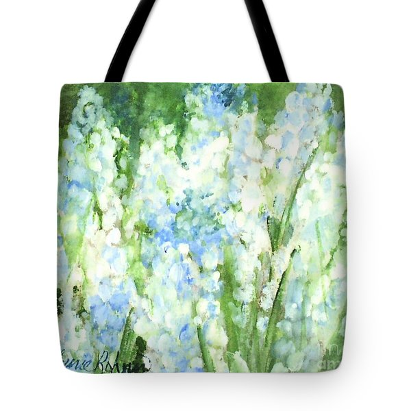 Light Blue Grape Hyacinth. Tote Bag