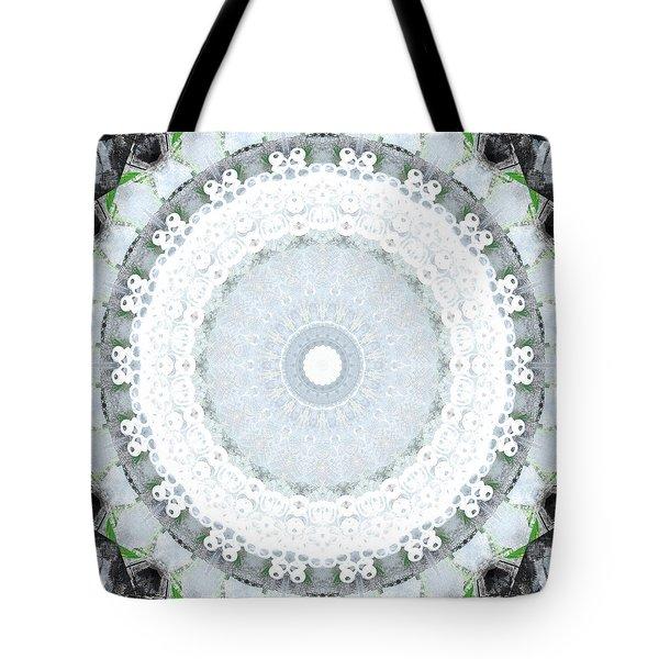 Light Blue Mandala- Art By Linda Woods Tote Bag