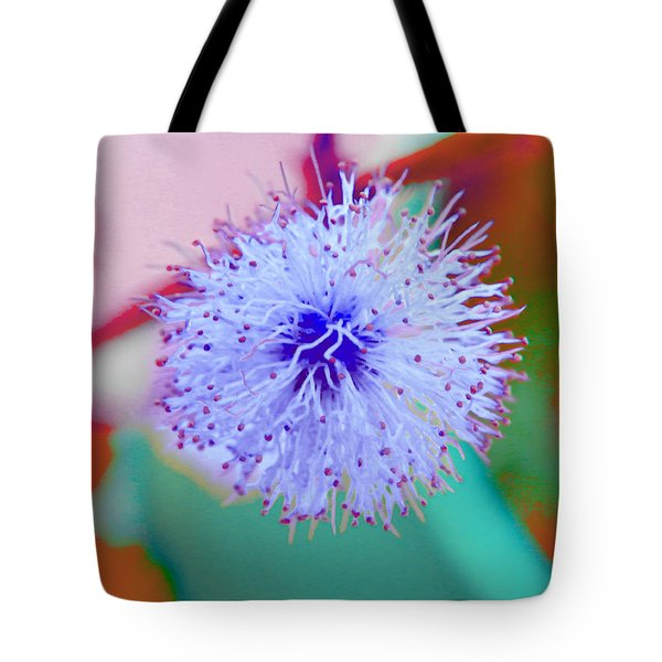 Light Blue Puff Explosion Tote Bag by Samantha Thome