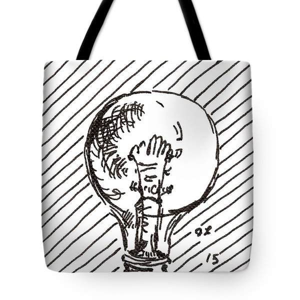 Light Bulb 1 2015 - Aceo Tote Bag