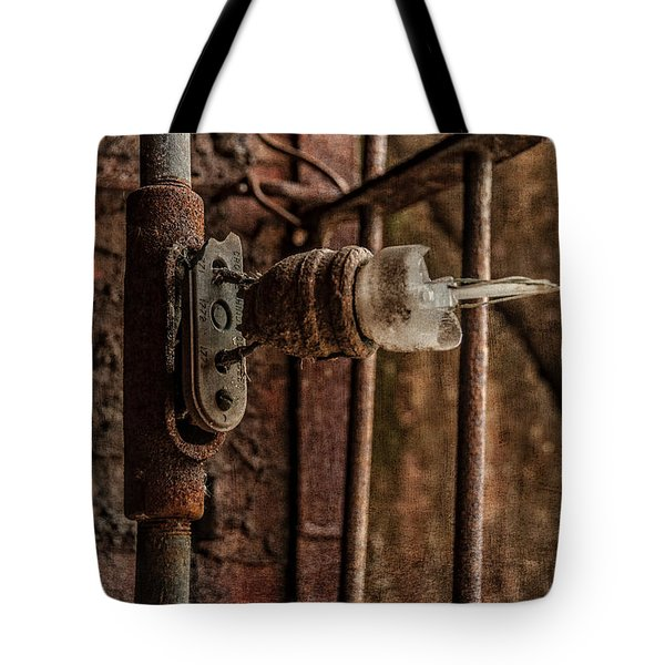 light bulb Sloss Tote Bag by Phillip Burrow