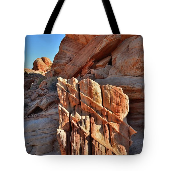 Light Creeps In At Valley Of Fire State Park Tote Bag